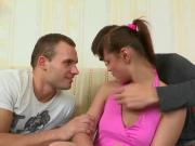 Stud assists with hymen check-up and nailing of virgin sweetie
