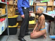 Arie is stripped down and banged by horny officers big cock
