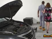 Relentless MILF got her pussy pounded in the garage