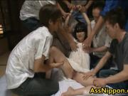 Cute Asian Babe in Hot Gang Bang Anus