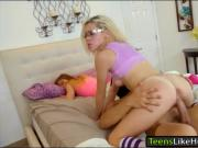 Hot blonde teen Kimberly Moss screwed by pervert robber