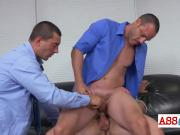 Surprised stud got manhandled like a slut