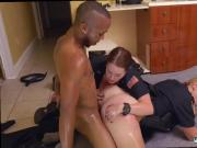Hot milf mom Black Male squatting in home gets our milf officers