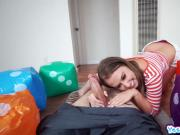 Brooke Bliss bends over her ass and fuck standing doggy
