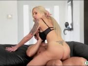 Big tits blonde milf fucked and facialed by her stepson