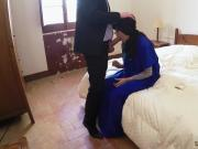Epic hardcore and cumshot 21 yr old refugee in my hotel apartment for