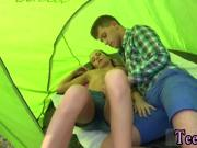Amazing russian teen anal Eveline getting penetrated on camping site