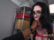 Chick with glasses gets all perverted with horny casting director