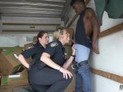 Muscle cop Black suspect taken on a harsh ride