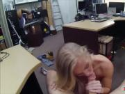Skinny blonde woman railed by pawn dude at the pawnshop