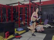 Sex hot babe Aubrey Rose fucked by her bf instructor in the gym