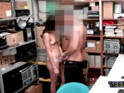 Emily is coerced into stripping down and taking officers big cock