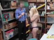 Long dong disappears in blonde girl