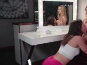 Aali Kali breastfeeds the new babysitter while being rubbed