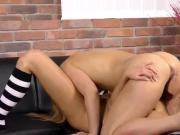 Sultry chick is geeting pissed on and squirts wet pussy