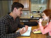 Teen rimming old guy Dolly Little is in need of some tutoring and