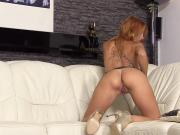 Foxy czech teen opens up her spread pussy to the special