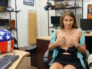 Pretty babe sells her helmet and banged by pervert pawn guy