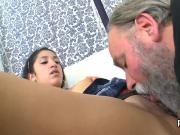 Sweet college girl was seduced and plowed by her elder teacher