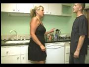 Angry Mature Woman Carey Riley Beat Up Young Guy