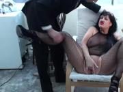 Black haired MILF Jessie Jo is a fucking squirting goddess