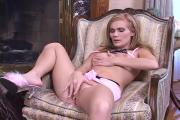 Lusty Blonde Hottie Screws Puffy Twat Using Toy
