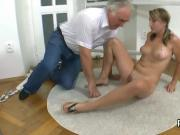 Natural college girl was seduced and plowed by her older tutor