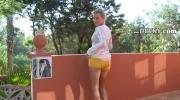 Blonde Babe Screws Pussy Using Dildo
