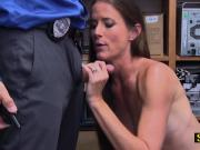 Teen Sofie gets her tunnel of love drilled hard by horny officer