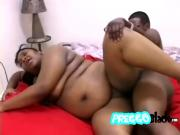 Glorious ebony woman with massive boobs feels a hard violation