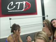 Tight blonde with her friends group sex by their gym buddy
