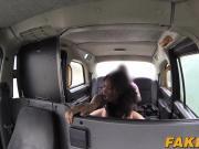 Hot busty ebony Kiki gets horny and fucks her taxi driver