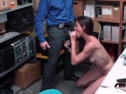 Sofie Marie is banged in doggystyle once found stealing by horny officer