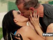 Romantic and real swinging couples on swinger television