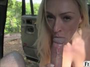 Naughty blondie nailed in a quiet place to off her fare