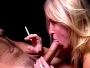 Naughty Dia Zerva Licks Dick Whilst Smoking