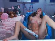 Barely Legal 18yo Teen Masturbating While Mommy And Daddy Are Not Watching