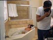 Ass in the air blowjob Lexy Bandera get's her pipes cleaned by a phat