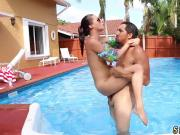 Teen agent creampie xxx Swimming In Semen