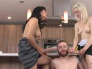 Nymphos screw fellows butthole with big strap-on dildos and squirt love juice
