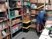 Caught shoplyfter Ava Parker got screwed doggystyle