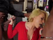 Receptionist Krissy Lynn Blows Her Black Bosses