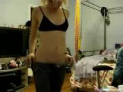 Sexy Blonde Slut Does Teasing For Video