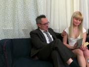 Sensual bookworm is tempted and penetrated by her older schoolteacher