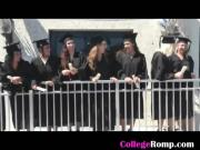 Hot Ex Girlfriend Sucking Dick Outdoors At College Graduation