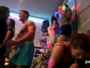 Spicy cuties get completely delirious and naked at hardcore party