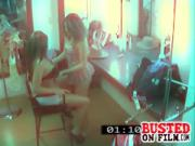 Naughty Lesbians Caught Diking Out In Dressing Room