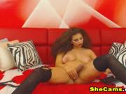 Big Tittied Shemale Gets Really Hot and Horny