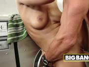 Big load of dick drilling tight pussy