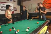 Voluptuous Brunette Pounded In Cunt And Butt-Hole Inside The Pool Table